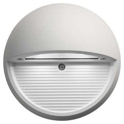 White Integrated LED Round Step and Stair Deck Light