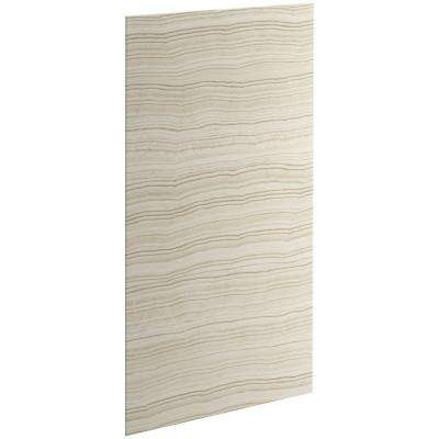 Choreograph 0.3125 in. x 36 in. x 72 in. 1-Piece Bath/Shower Wall Panel in Veincut Biscuit for 72 in. Bath/Showers