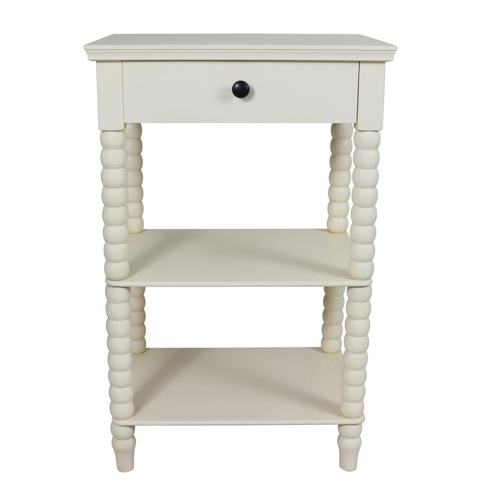 Decor Therapy Simplify Edge Gray 1-Drawer End Table-FR1861