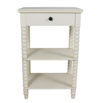 Spindle Antique White Side Table