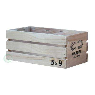 9.5 in. W x 5 in. D x 4 in. H Small Distressed Wood Crate Planters