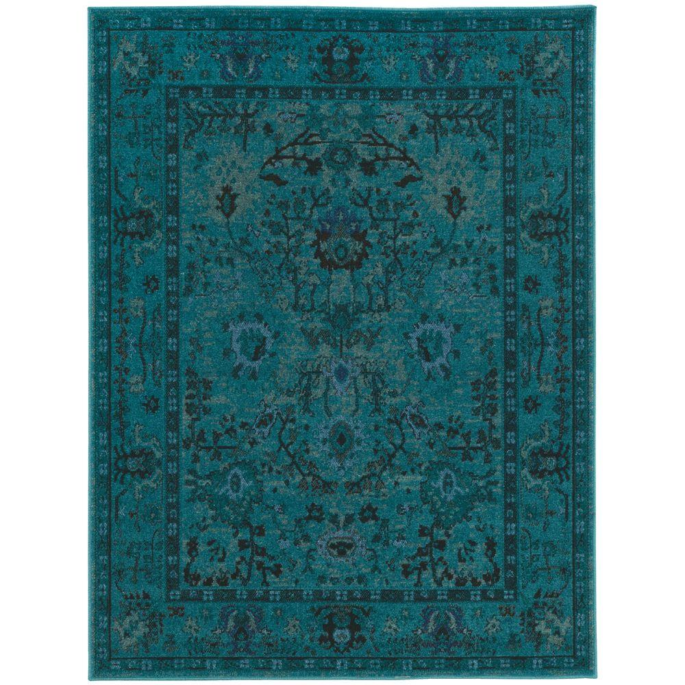Home Decorators Collection Overdye Teal 4 Ft. X 6 Ft. Area