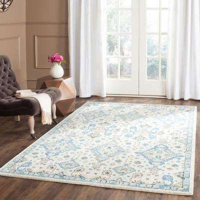 High Quality Evoke Ivory/Light Blue 6 Ft. 7 In. X 9 Ft. Area Part 27
