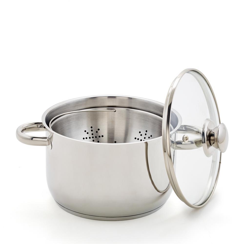 8 in. Steamer Basket, Pot and Lid
