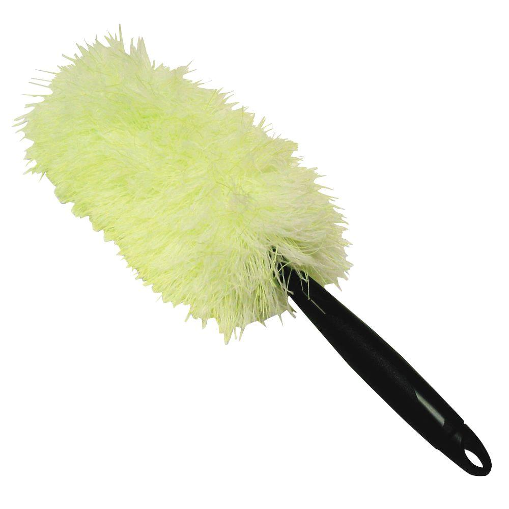 Microfiber Duster in White, Green