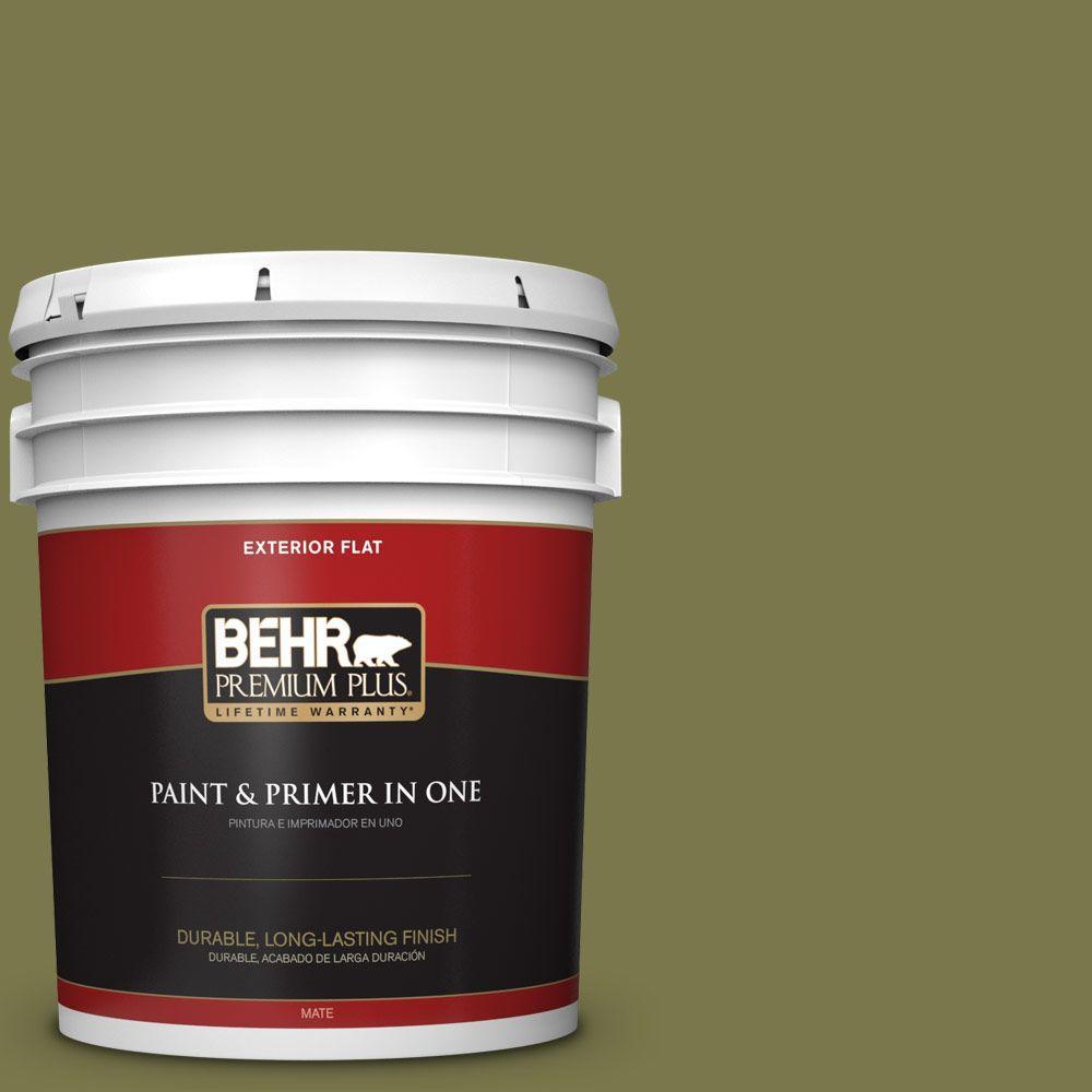 BEHR Premium Plus 5-gal. #S340-7 Tree Hugger Flat Exterior Paint