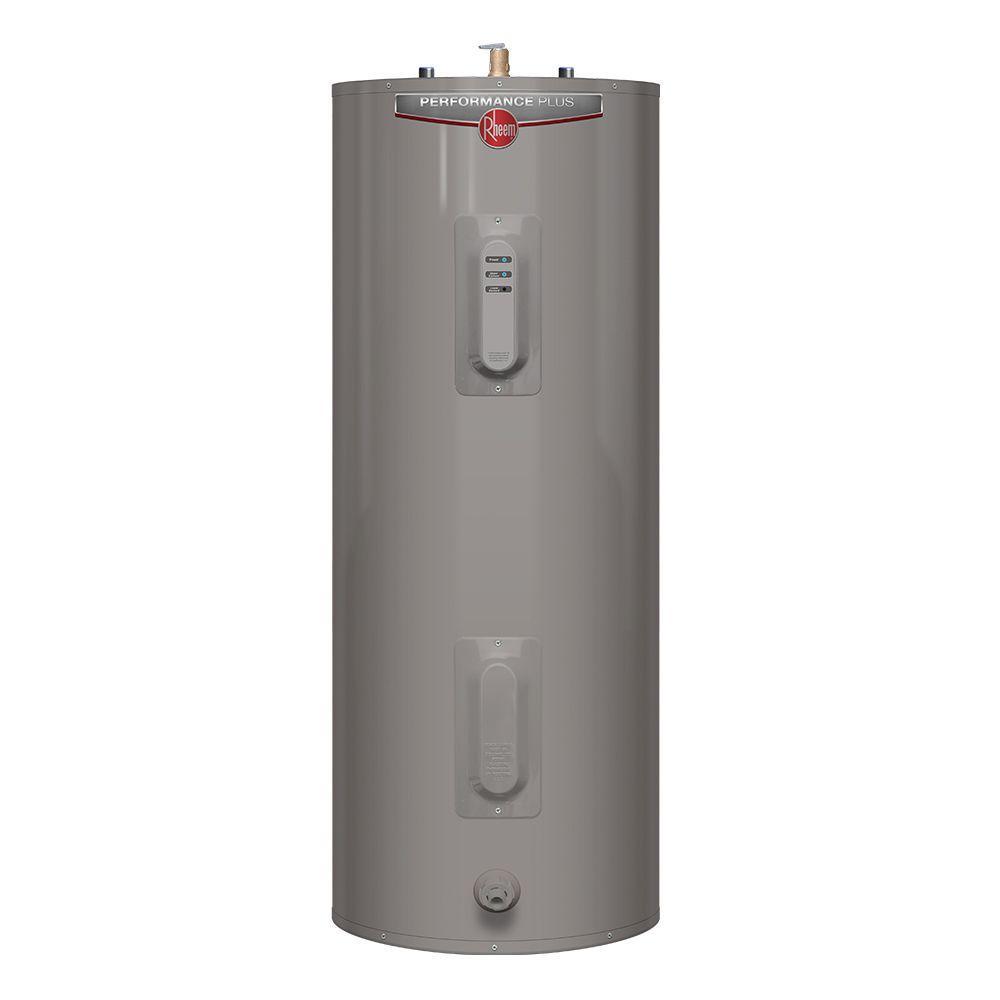 Rheem Performance Plus 40 Gal Medium 9-Year 5500/5500-Watt Elements Electric Tank Water Heater with LED Indicator -  644486