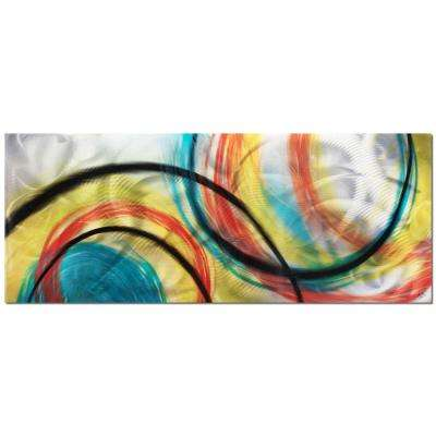 Brevium 19 in. x 48 in. Rainbow Seasons Metal Wall Art