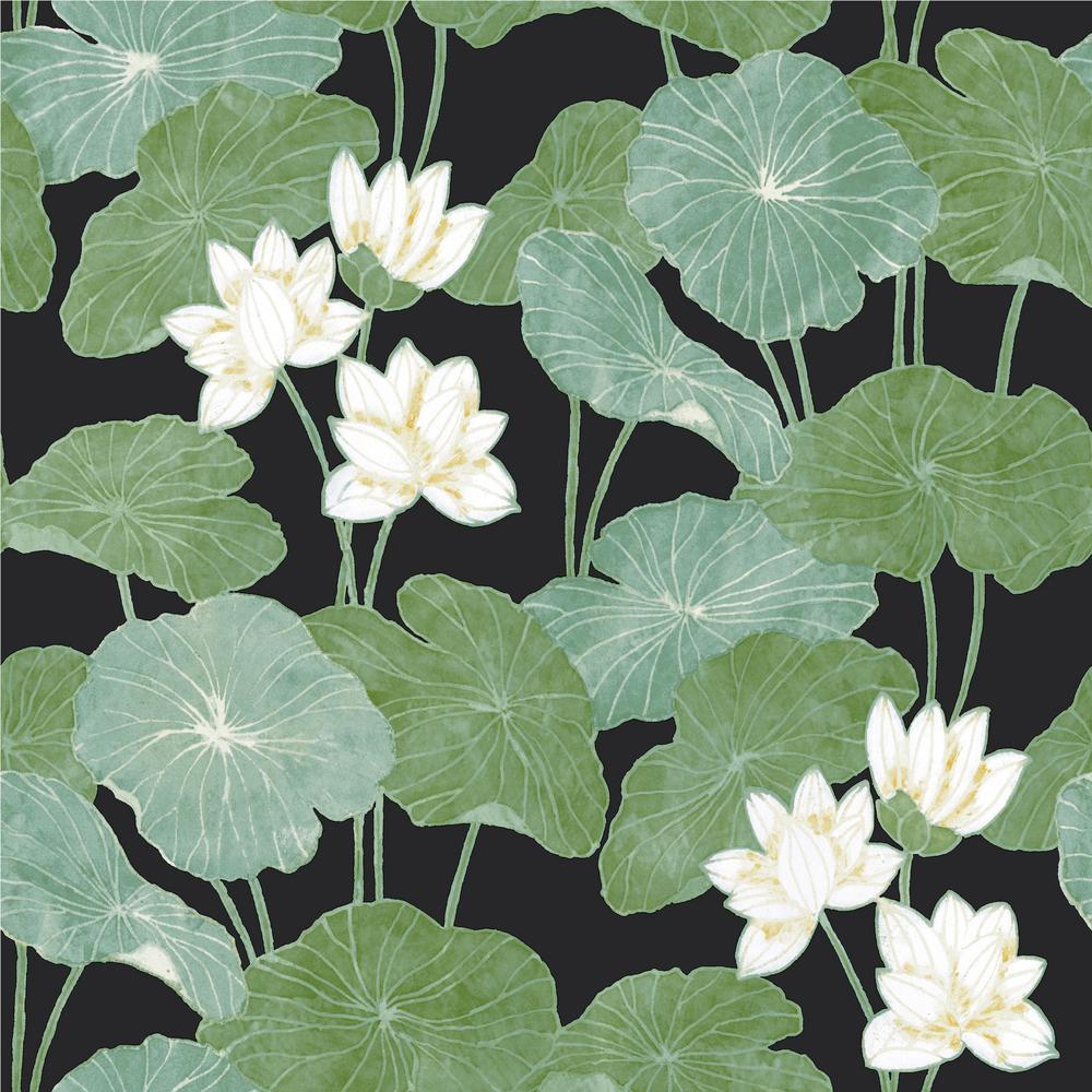 Lily Pad Vinyl Peelable Wallpaper (Covers 28.18 sq. ft.)