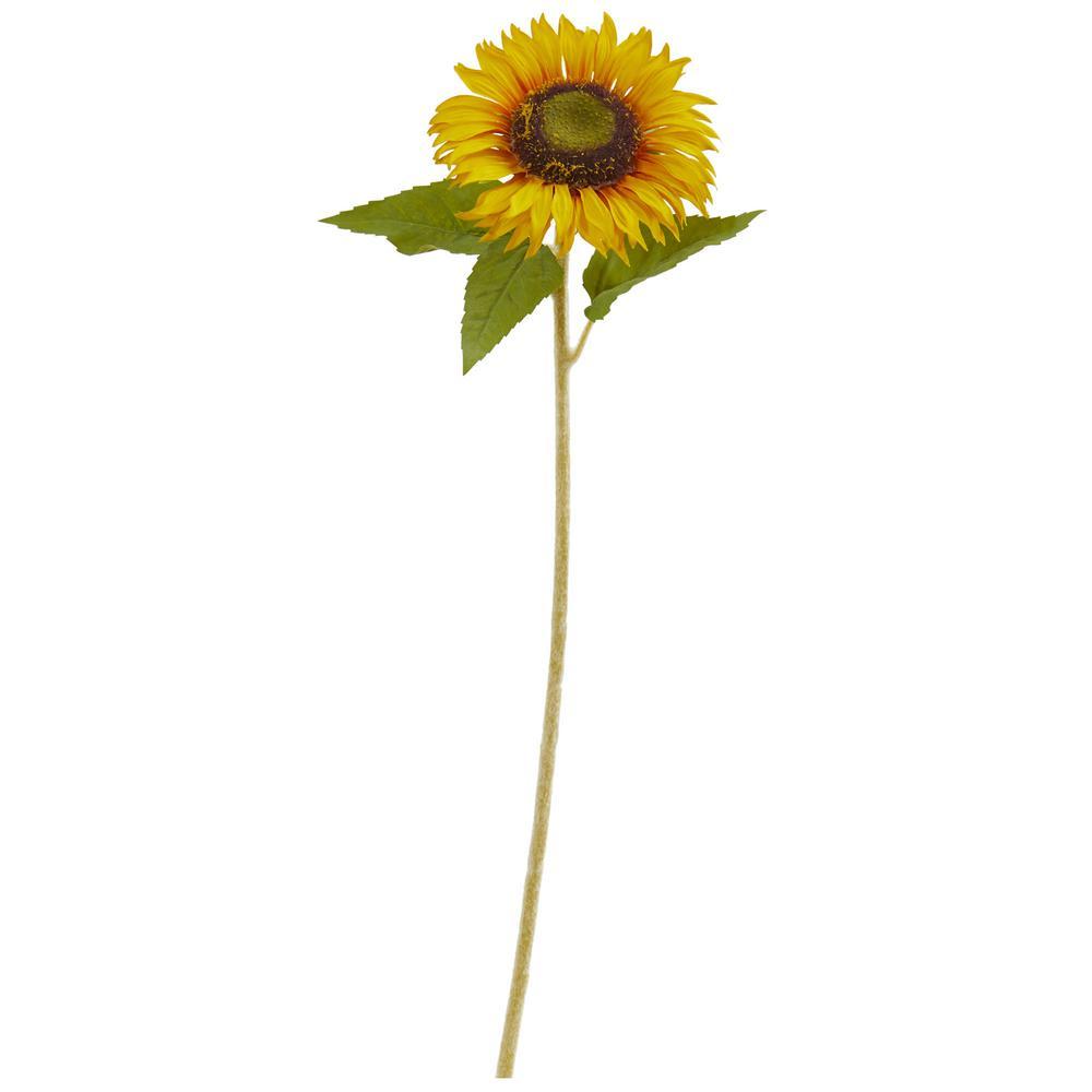 Indoor 24 in. Sunflower Artificial Flower (Set of 12)