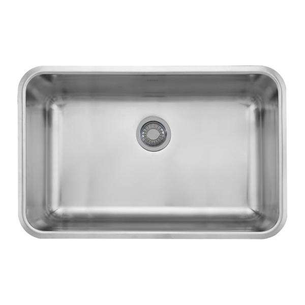 Grande Undermount Stainless Steel 30.125 in. x 19.125 in. Single Bowl Kitchen Sink
