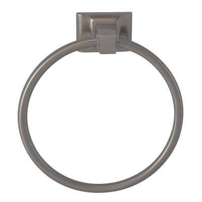 Hennessey Towel Ring in Satin Nickel