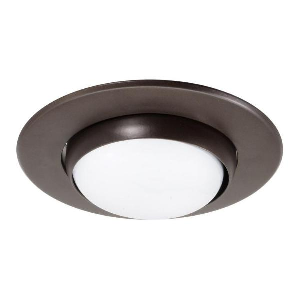 NICOR 5 in. Oil Rubbed Bronze Recessed Eyeball Trim