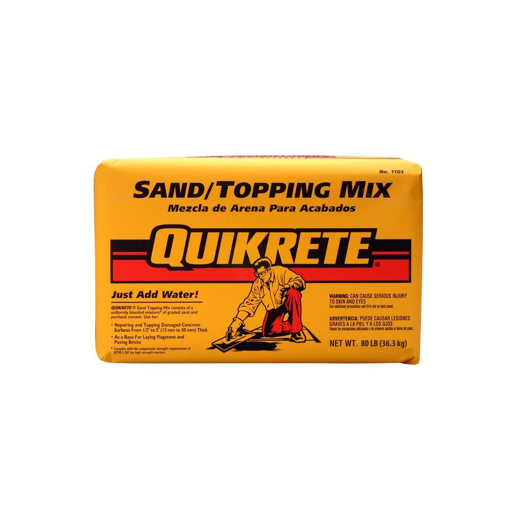 Quikrete 80 lb  Sand/Topping Mix