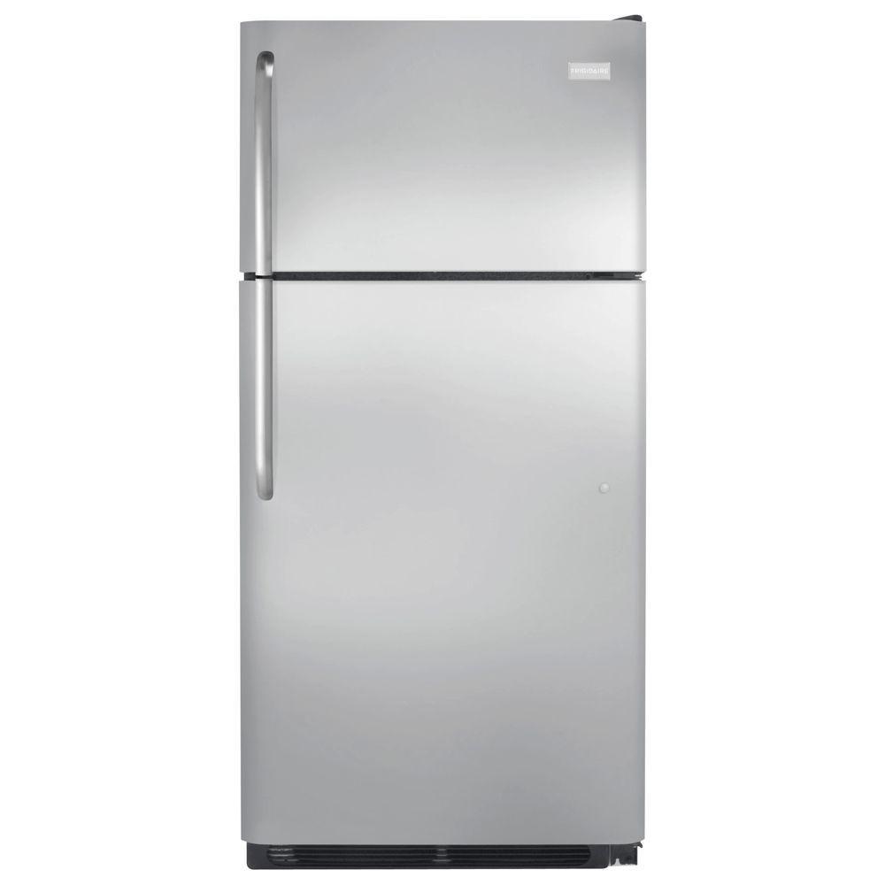 Frigidaire 18 cu. ft. Top Freezer Refrigerator in Stainless Steel, ENERGY STAR