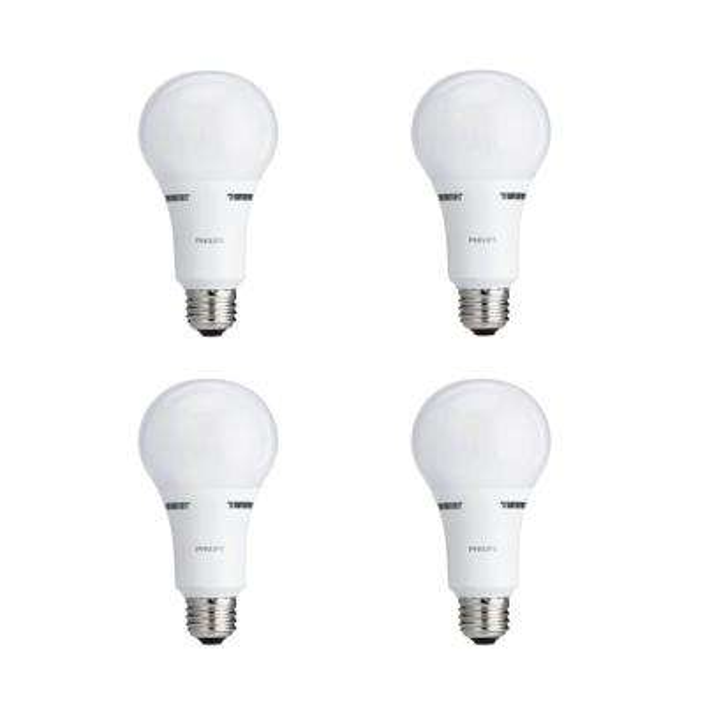 40 Watt 60 Watt 100 Watt Equivalent A21 Energy Saving 3 Way Led Light Bulb Soft White 2700k 4 Pack