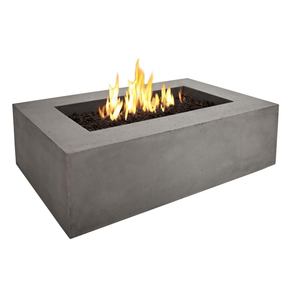 Real Flame Baltic 50 in. x 32 in. Glacier Gray Propane Gas Fire Pit-DISCONTINUED