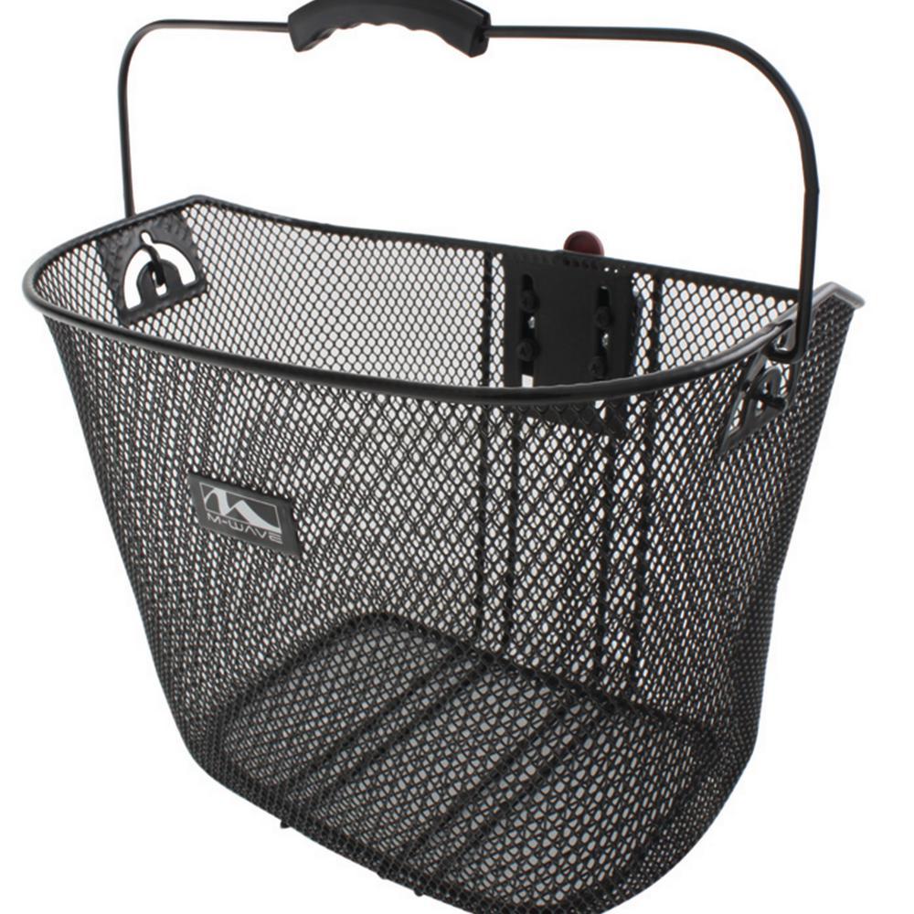 Black Steel Mesh Bicycle Basket with Handle Lightweight Universal Bike//Cycle