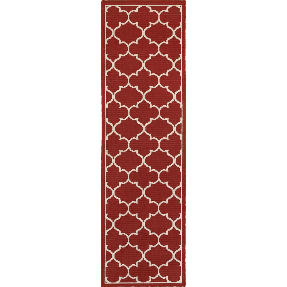 Home Decorators Indoor Outdoor Rugs: Home Decorators Collection Valley Red 2 Ft. X 8 Ft. Indoor