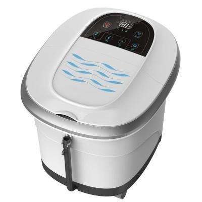 Pure Calf and Foot Spa with Shiatsu Rolling Massage, Heat, Jets, Bubbles, Digital Time, Temperature Control LED Display