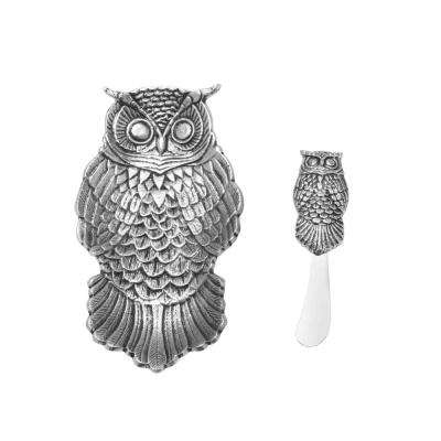 2-Piece Owl Dish and Spreader SeT