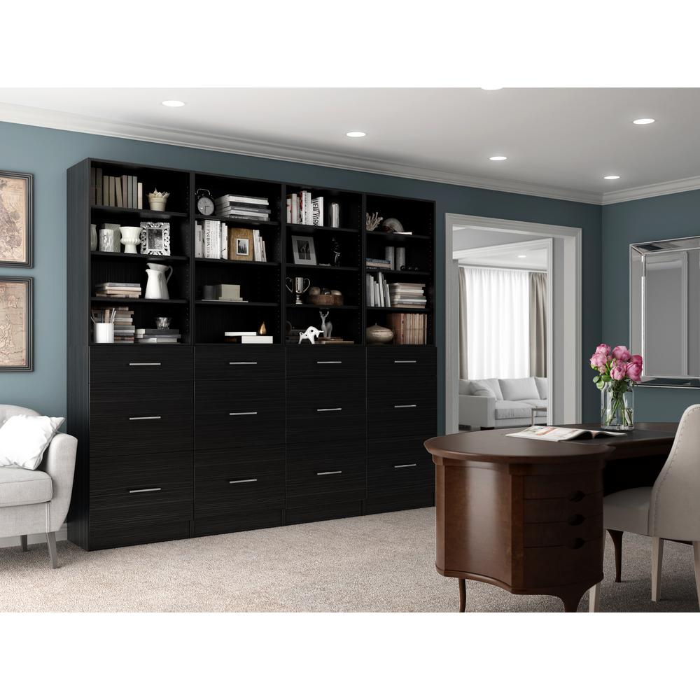 Storage Brown Wood Closet System Calabria Product Picture