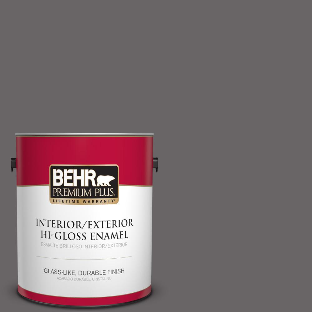1 gal. #PPU17-19 Arabian Veil Hi-Gloss Enamel Interior/Exterior Paint