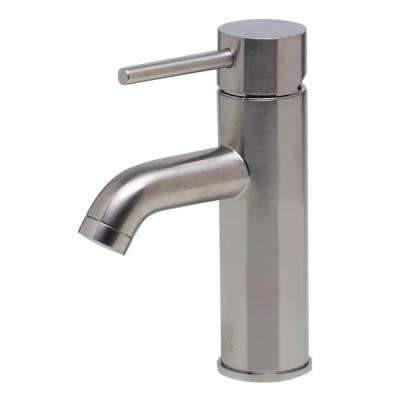 AB1433-BN Single Hole Single-Handle Bathroom Faucet in Brushed Nickel