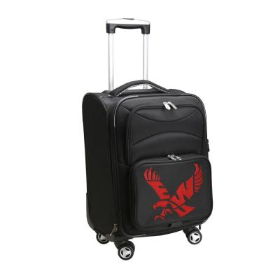 Denco NCAA Eastern Washington 21 in. Black Carry-On Spinner Softside Suitcase
