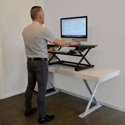 Desk Top Black Adjustable Sit to Stand Desk