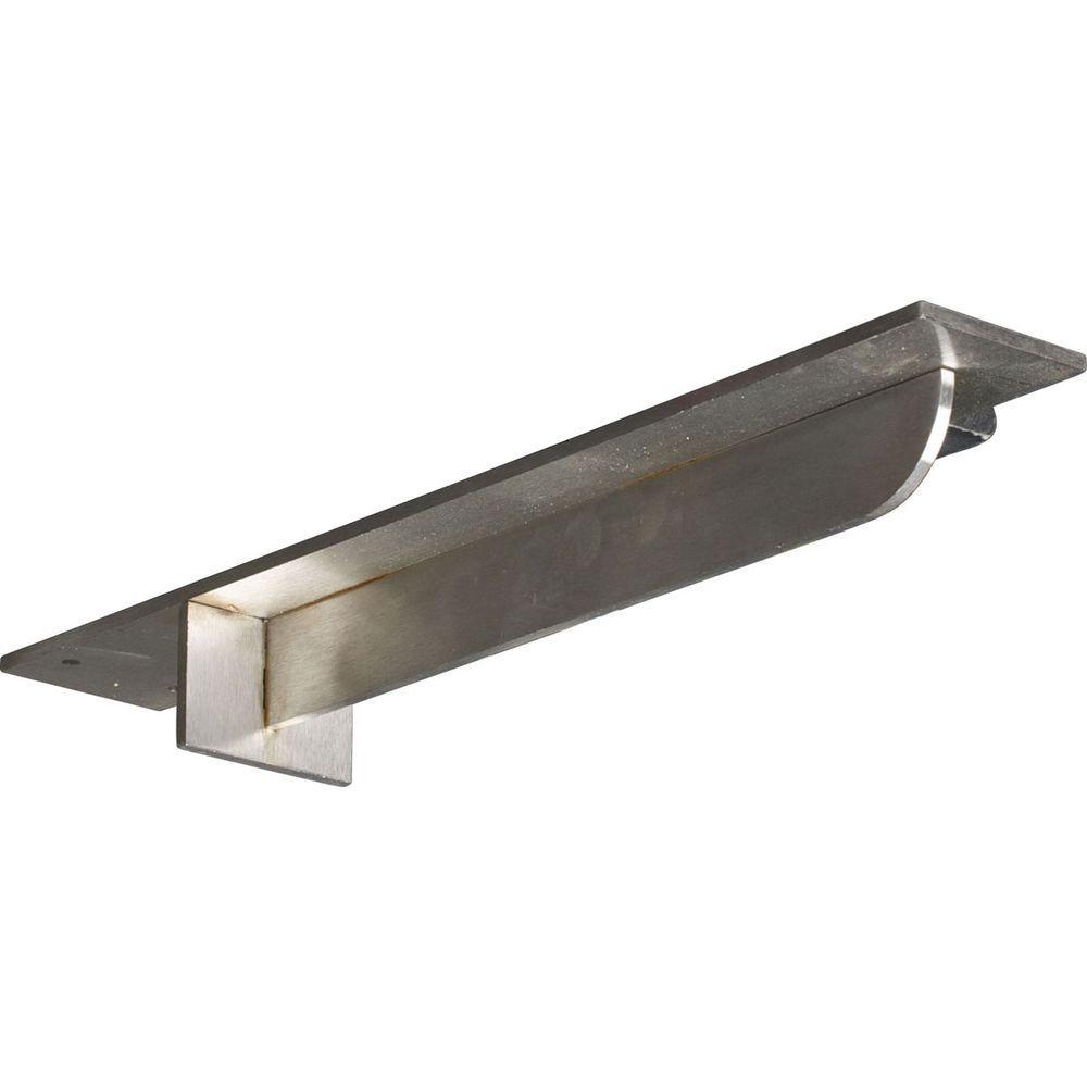 18 in. x 3 in. x 2 in. Stainless Steel Unfinished Metal Heaton Bracket