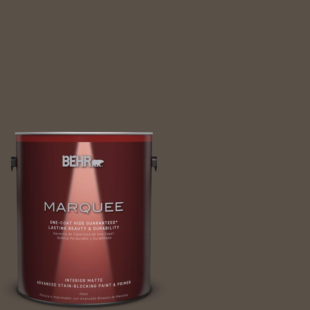 1 gal. #N360-7 Potting Soil One-Coat Hide Matte Interior Paint