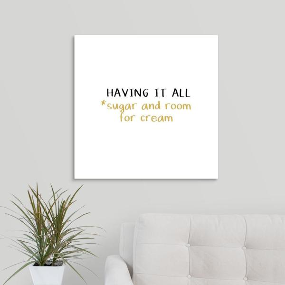 GreatBigCanvas ''Having It All'' by Linda Woods Canvas Wall Art 2452945_24_24x24