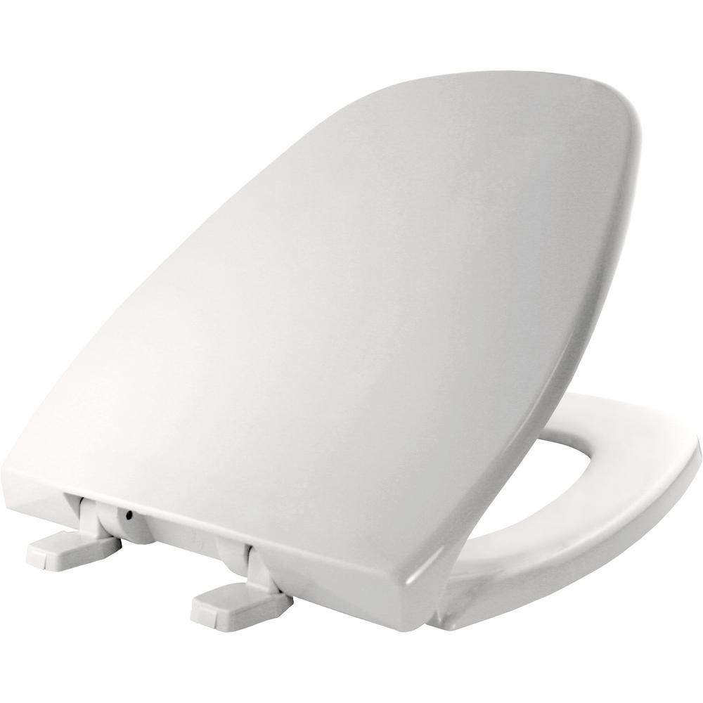 Bemis Round Closed Front Toilet Seat In White 124 0200 000
