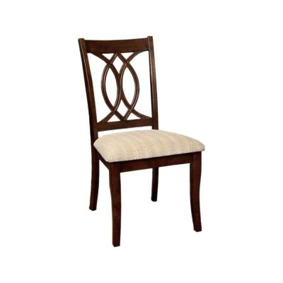 Transitional Brown Cherry Finish Side Chair (Set of 2)