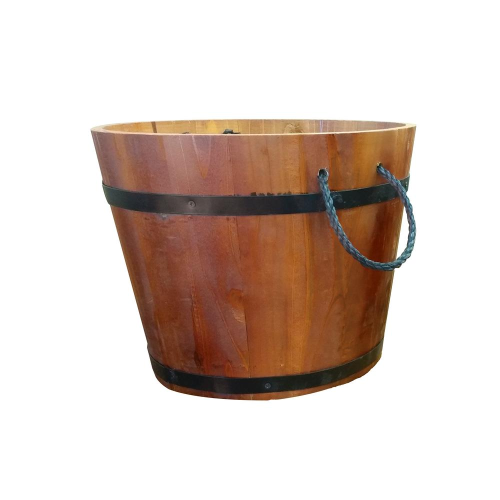 12 in. x 12 in. x 8 in. Large Rope Handle Planter X Planters on