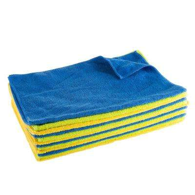 16 in. x 12 in. x .125 in. Microfiber Cloth Cleaning Towels (12-Pack)