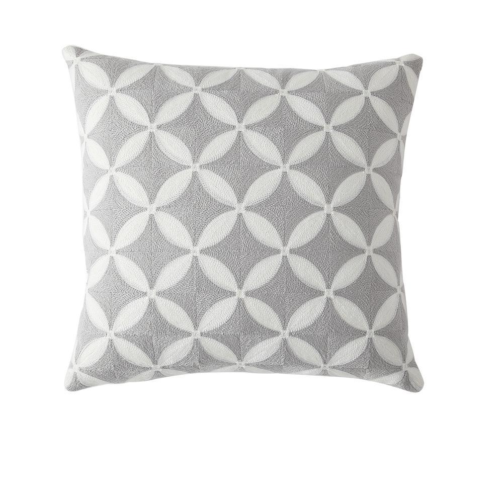 Morgan Home 18 in. Ava Grey Geometric Throw Pillow Cover