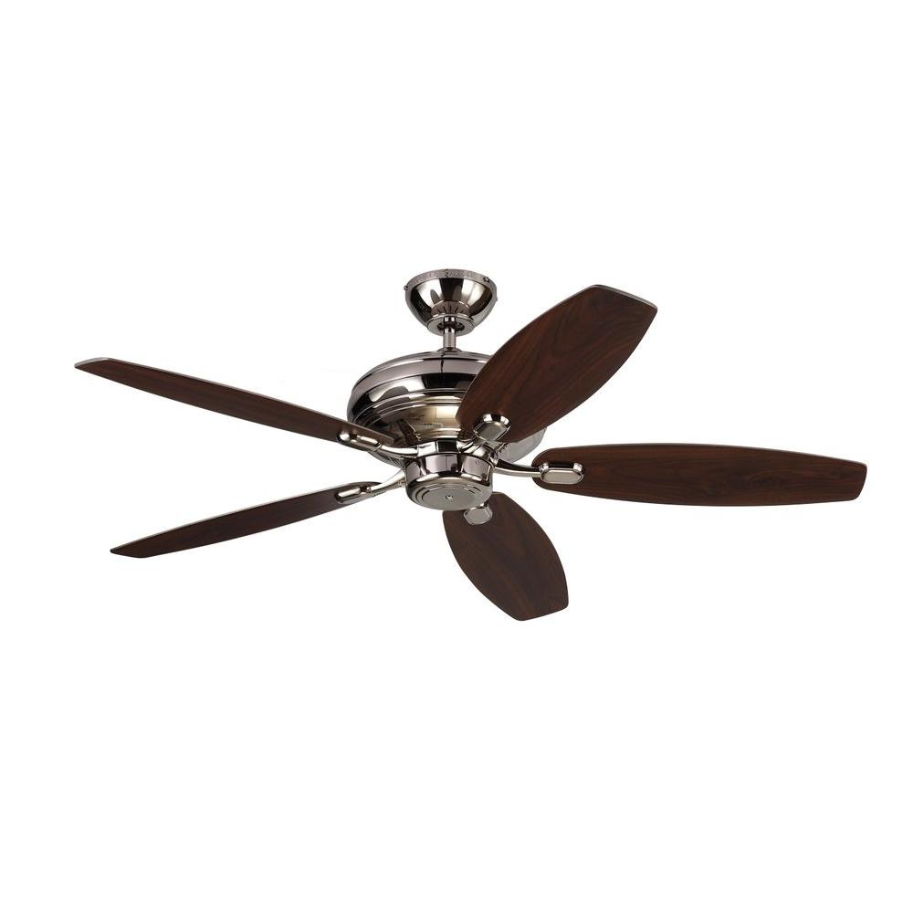 Centro Max 52 in. Polished Nickel Silver Ceiling Fan