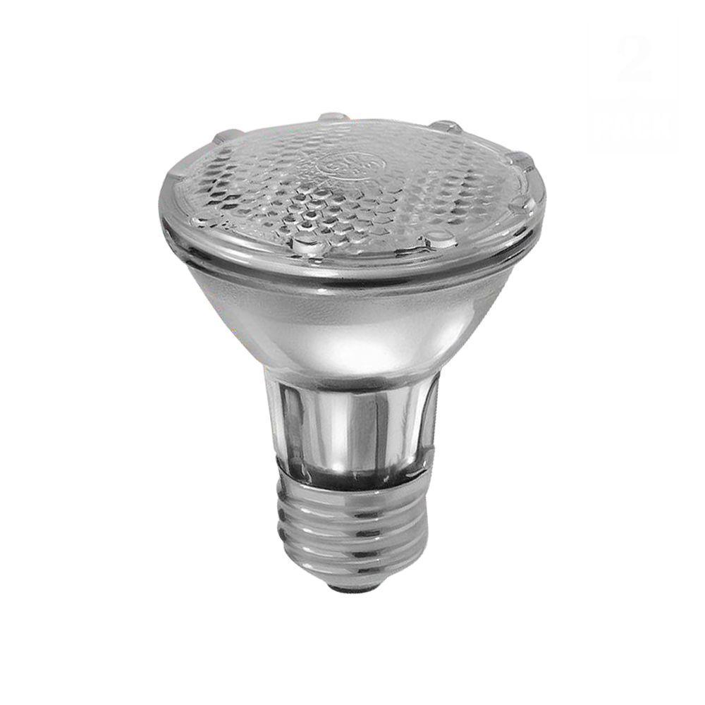 Ge 38 Watt Halogen Par20 Flood Light Bulb 2 Pack