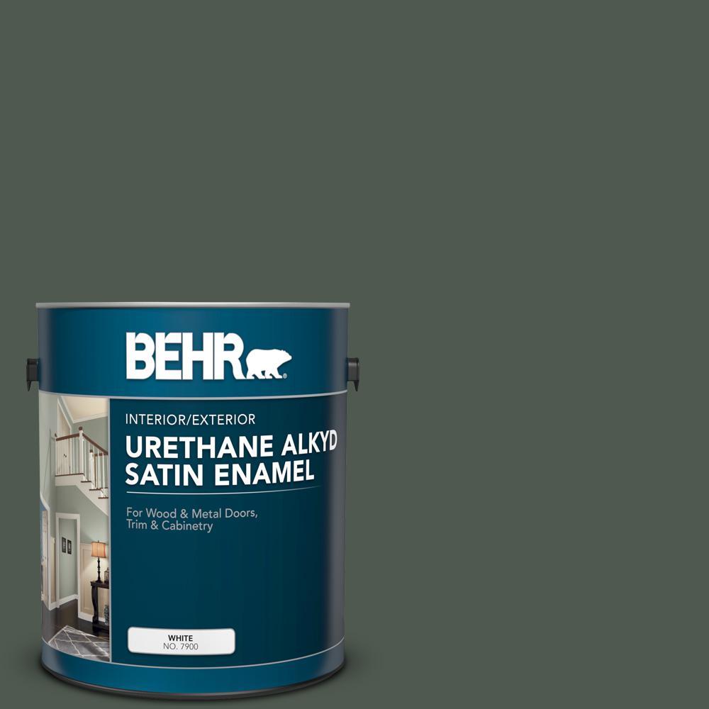 1 gal. #N410-7 North Woods Urethane Alkyd Satin Enamel Interior/Exterior Paint