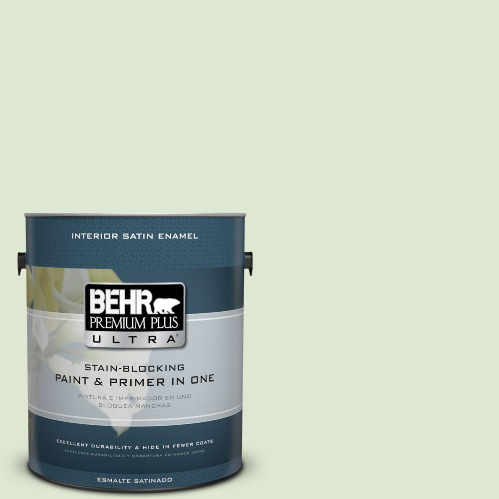 BEHR Premium Plus Ultra 1-gal. #M370-2 Cabbage Leaf Satin Enamel Interior Paint