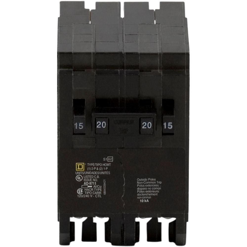 Square D Qo 30 Amp Single Pole Circuit Breaker Qo130cp The Home Depot Arc Fault 15 120 240 Volt Ac 1pole Plugon Homeline 2 1 20 Quad
