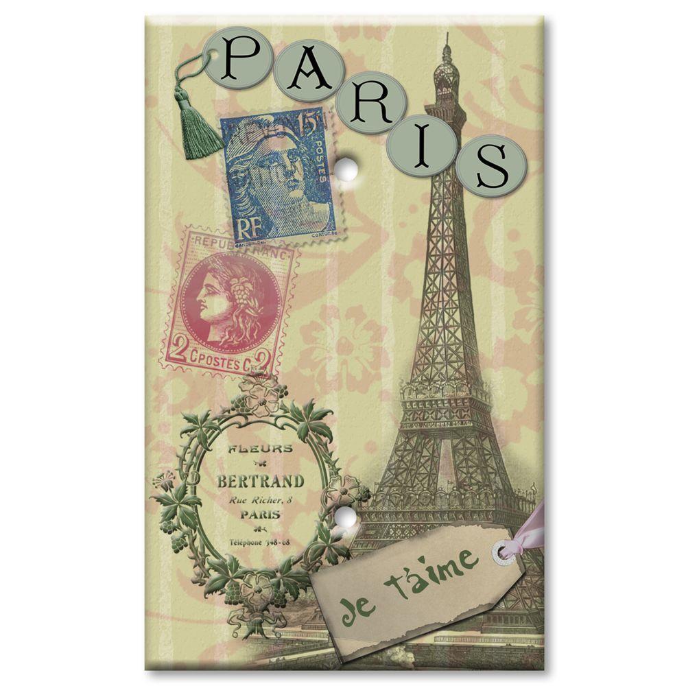 Art Plates Paris Je T'aime Blank Wall Plate