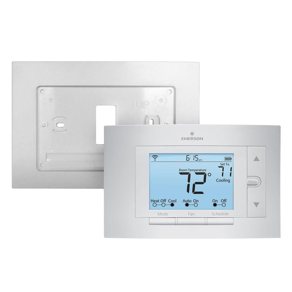 Emerson Sensi Wi-Fi Programmable Thermostat and Wall Plate Bundle
