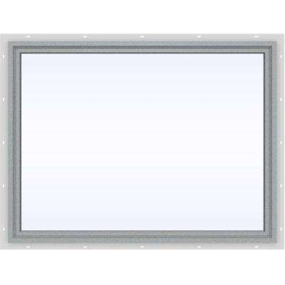 47.5 in. x 35.5 in. V-4500 Series Gray Painted Vinyl Picture Window w/ Low-E 366 Glass
