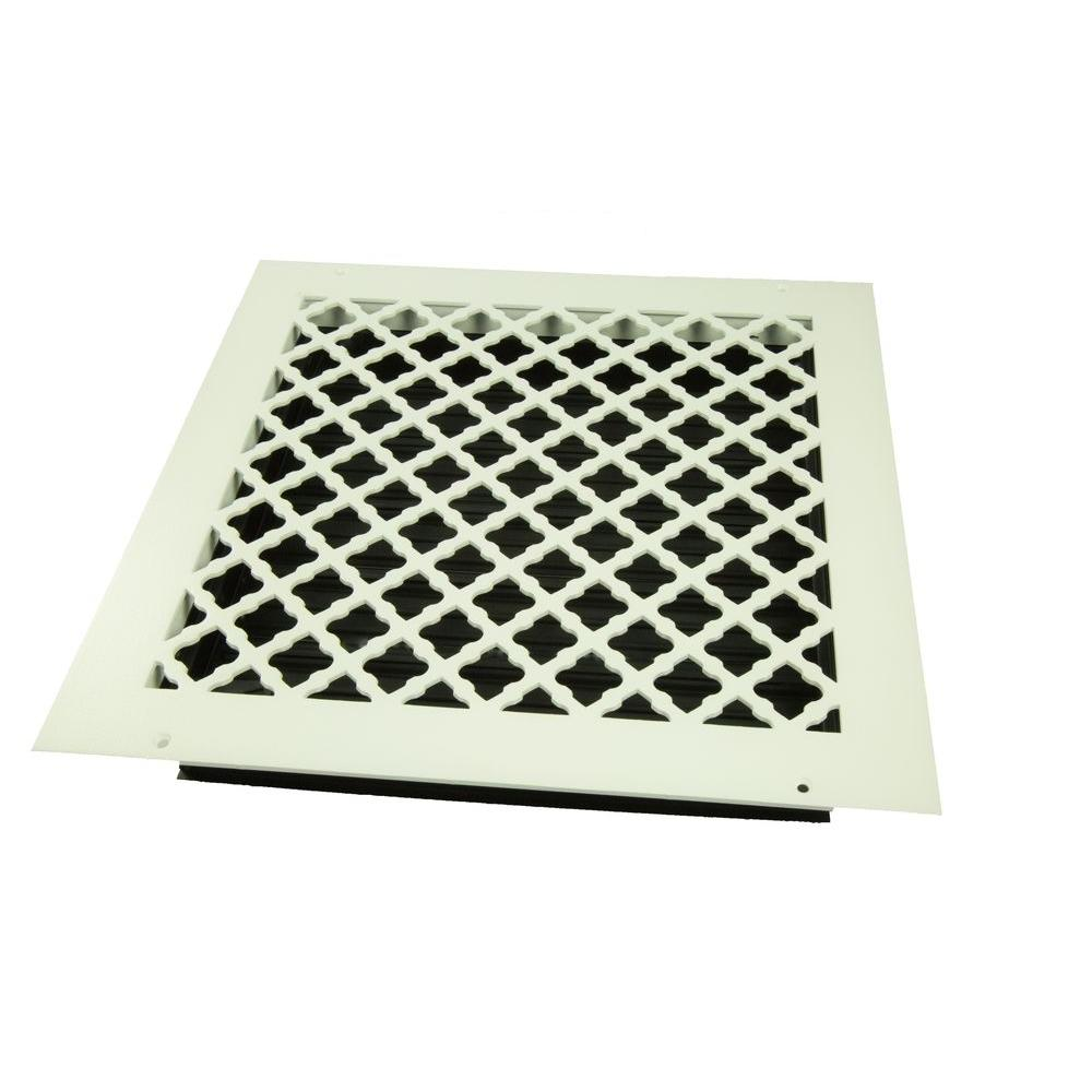 Wall Grille With Opposed Blade Damper : Decor grates in white steel scroll wall and