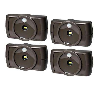 Wireless Motion Activated LED Slim Task Night Light in Bronze (4-Pack)