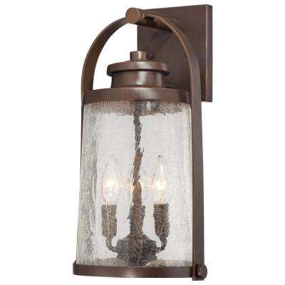 Travessa 3-Light Architectural Bronze Outdoor Wall Mount Lantern