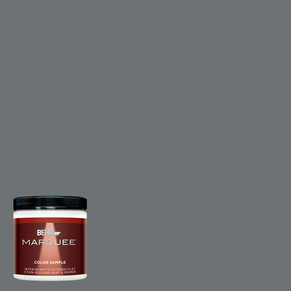 BEHR MARQUEE 8 oz. #MQ5-28 Dawn Gray Matte Interior/Exterior Paint and Primer Sample